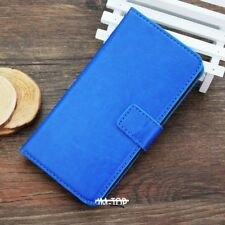 BLUE Magnetic PU LEATHER Card Wallet Flip Smart Stand Case for SAMSUNG GALAXY