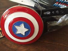 "Marvel Comics Captain America Shield Belt & Buckle 30-34"" Super Hero New w/ tags"