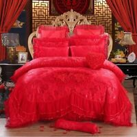 4/6/8 Pieces of Luxurious Princess Bedding Quilt Cover Sheet and Pillowcase