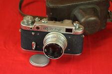 early Fed 2 Russian Soviet Rangefinder 35mm Film Camera + Industar 26m f5 lens