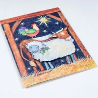 Lot 19 Unused 3D Gibson Christmas Barnyard Susan Winget Christmas Greeting Cards
