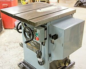 Table Saw, Cabinet Saw, Delta 36-812, Unisaw, 3 hp, Right Tilt, Mobile Base