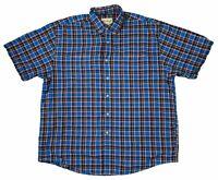 Eddie Bauer Mens Long Sleeve Plaid Button Up Cotton Flannel Shirt Blue Large L