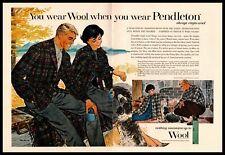 1960 Pendleton Woolen Mills Portland OR Jackets Shirts Slacks 2-Page Print Ad