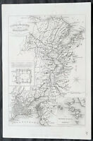 1857 Henry Tyrell Antique Map of Istanbul & The Bosphorus during The Crimea War