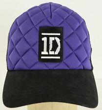 One Direction 1D Purple Black mesh trucker  adjustable baseball hat cap