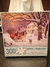 """Bits and Pieces Homeward Bound Jigsaw Puzzle 300 Pieces 18"""" x 24"""" New Sealed"""