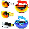 Ski goggles double layers UV400 anti-fog skiing men women snow snowboard goggles