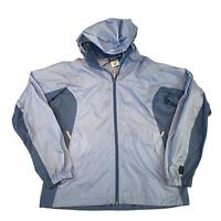 COLUMBIA Womens Hoodie Jacket Medium Light Blue Waterproof Full Zip Anorak Hoody