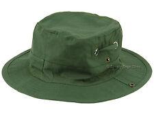Hawkins Unisex 100 Cotton Safari Style Aussie Sun Cap Summer Hat With Chin Cord Green L ( 59cm )