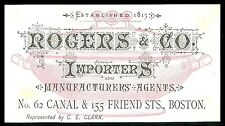 Fine Trade Card - Importers Boston Screened Dish and Store Interior - Pink Ink