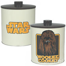 NEW Star Wars CHEWBACCA Wookiee BISCOTTI Scatola per Biscotti LATTA BARATTOLO Wookie Ufficiale