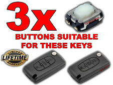 3x PULSADOR BOTON SWITCH BUTTON PEUGEOT 307 407 308 BOXER EXPERT PARTNER LLAVE