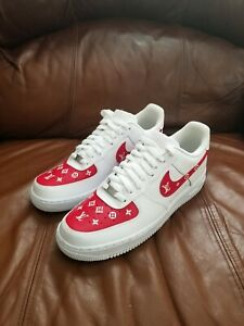Red Luxury @CoolOutSessions Custom Nike Air Force 1