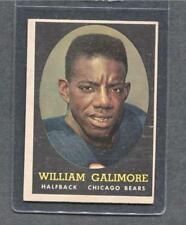 1958 Topps Football #114 William Galimore (Bears)  Vg-Ex  (Flat Rate Ship)