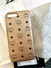 New MCM Rose Gold Coated Canvas Iphone 8 Plus Cell Phone Case