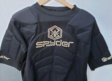 Spyder Padded Armour Top Shirt Short Sleeve Black Racing Skiing Medium Large