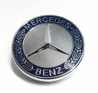 Front Flat Hood Bonnet Emblem Badge Logo For Mercedes Benz C CLK E S Class AMG