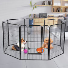 New listing 31 Inch Dog Playpen Crate 8 Panel Fence Pet Play Pen Exercise Puppy Kennel Cage