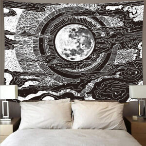 Abstract Moon Tapestry Hippie Bohemian For Wall Hanging Living Room Home Decor