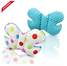 Infant Toddler car seat, stroller butterfly head support turquoise/colorful dots