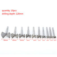 10pc 14-50mm Forstner Drill Bit Set Hole Saw Cutter Woodworking Wood Boring SP
