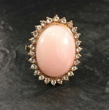 BCI Andenopal Cabochon 375er Rotgold Gold Ring Weißtopase Opalring Gr. 64