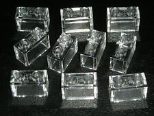 LEGO 10 Trans-Clear Bricks 1 x 2 Clear NEW 75827