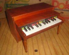 Vintage JAYMAR Children's Wooden Toy Piano Vintage Upright Nice Shape Works
