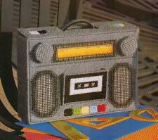 JAM BOX TOTE RADIO BOOM BOX PLASTIC CANVAS PATTERN INSTRUCTIONS