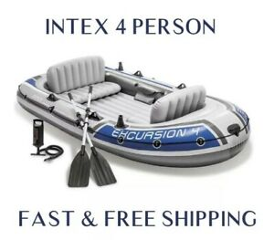 Intex Excursion 4 Inflatable Boat, Brand New ✅ Fast & Free 🚚💨