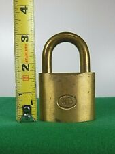 Vintage SHORT Brass WB (Wilson Bohannan) Pad Lock (No Key)
