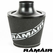 Ramair Black Universal Intake Cone Air Filter 80Mm Od Neck 200Mm Aluminium Base