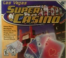 NIB Las Vegas Super Casino CD-Rom Video Poker Blackjack Baccarat Slots Craps Ken