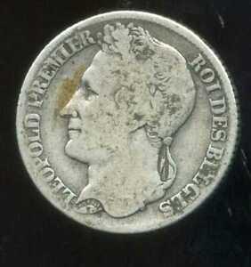 BELGIQUE  1 franc 1844    ARGENT  SILVER