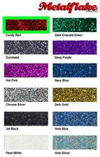 "Candy Red Custom Metal Flake Sample 5gram(0.008"") USA Metalflake Glitter Flakes"
