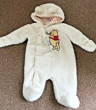 Disney Baby Winnie The Pooh Cream Fleece Winter Snow Pram Suit 0-3 Months B56