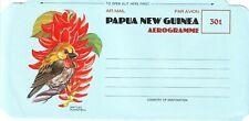 OLD PACIFIC OCEAN ISLANDS of PAPUA & NEW GUINEA PARADISE BIRD = AEROGRAMME 1