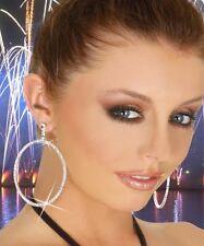 Boucle d'oreille anneaux  Strass soirée - Glamour- Sexy