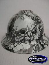 Ratchet Skull Tattoo Print Full Brim New Custom MSA V-Gard Hard Hat W/Fas-Trac