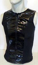 Catherine Coatney San Francisco Mens Small Sleeveless Black PVC Lycra Top Shirt