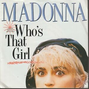 """Madonna Who's That Girl 45T 7"""" 45 Tours SP Germany"""