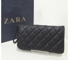 New Zara Black Quilted Clutch Bag