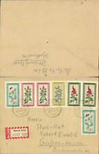 602655,Reco Einschreiben Steinach Thüringen n. Gießen Hessen 1960 Mehrfahrbenfra
