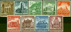 Germany 1940 Winter Relief Fund Set of 9 SG739-747 Fine Mtd Mint