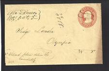 MONTICELLO, WASHINGTON W.T. Cover. DPO Cowlitz 1850/76. SR/7 Rare, Very Early