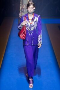 38IT - Gucci Crepe/Wool Runway Jumpsuit- With Tags- RRP$6,500 AUD