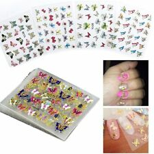 24 Sheets  3D Butterfly Flower Manicure Tool Decals Nail Art Stickers