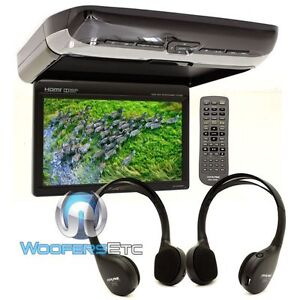 "ALPINE PKG-RSE3HDMI 10.1"" DVD OVERHEAD FLIP DOWN VIDEO MONITOR DUAL HDMI USB NEW"