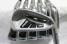 Used RH Ping i20 Iron Set 4-PW CFS Steel Stiff Flex Black Dot i-20 S-Flex